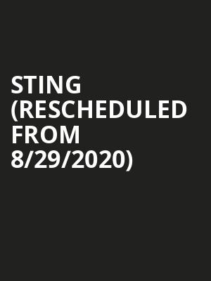 Sting (Rescheduled from 8/29/2020) at Caesars Palace Event Center